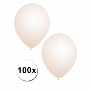 100x stuks transparante party ballonnen 30 cm