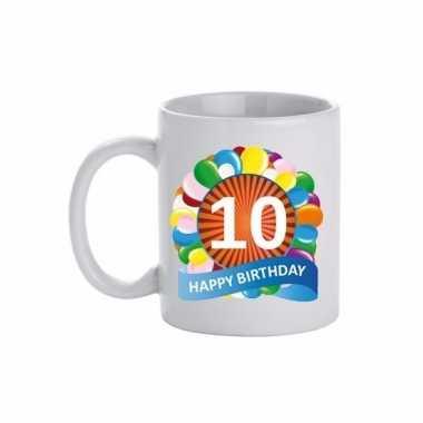 10e verjaardag cadeau beker / mok 300 ml