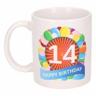 14e verjaardag cadeau beker / mok 300 ml