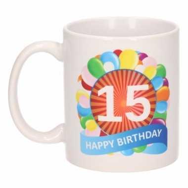 15e verjaardag cadeau beker / mok 300 ml