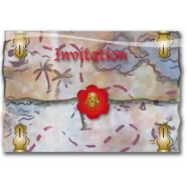 16x piraten partijtje uitnodigingen