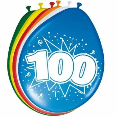 16x stuks ballonnen 100 jaar