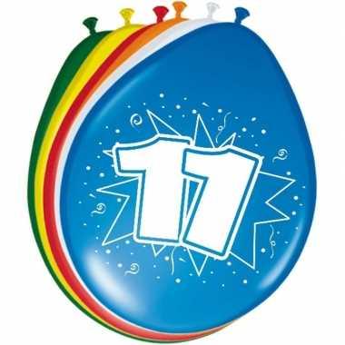 16x stuks ballonnen 11 jaar