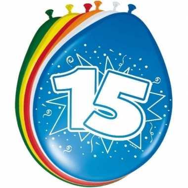 16x stuks ballonnen 15 jaar