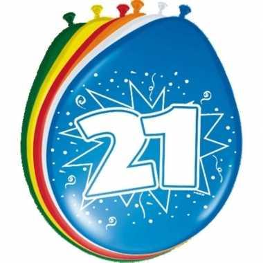 16x stuks ballonnen 21 jaar