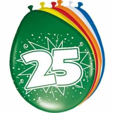 16x stuks ballonnen 25 jaar
