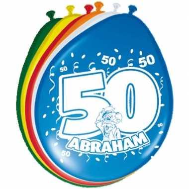 16x stuks ballonnen 50 jaar abraham