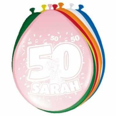 16x stuks ballonnen 50 jaar sarah