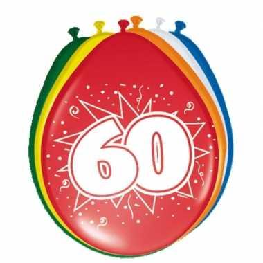 16x stuks ballonnen 60 jaar