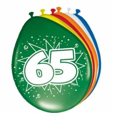16x stuks ballonnen 65 jaar