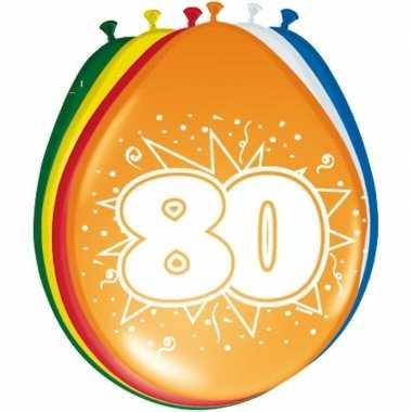 16x stuks ballonnen 80 jaar