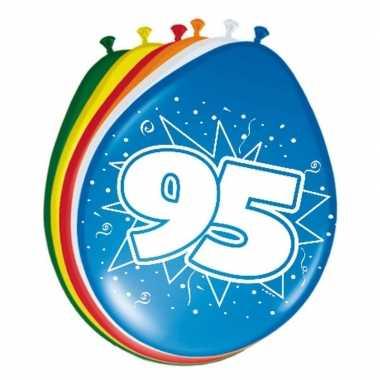 16x stuks ballonnen 95 jaar