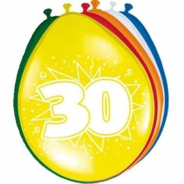 16x stuks feest ballonnen van 30 jaar