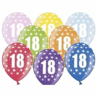 18e verjaardag ballonnen met sterretjes