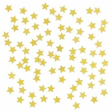 2 x stuks gouden sterren confetti zakjes 15 gram