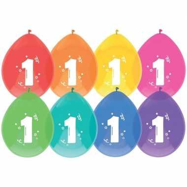24x ballonnen 1 jaar verjaardag/leeftijd versiering