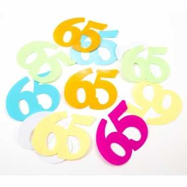 24x mega confetti 65 jaar gekleurd