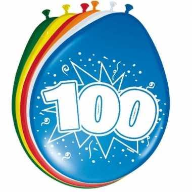 24x stuks ballonnen 100 jaar
