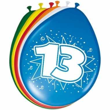 24x stuks ballonnen 13 jaar 30 cm