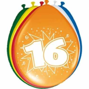 24x stuks ballonnen 16 jaar feestje