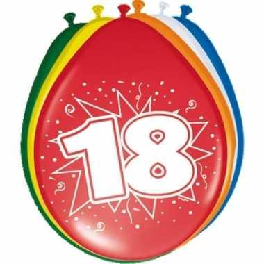 24x stuks ballonnen 18 jaar
