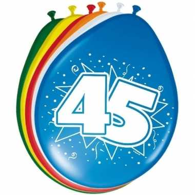 24x stuks ballonnen 45 jaar