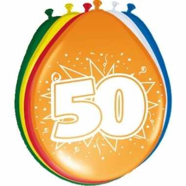 24x stuks ballonnen 50 jaar