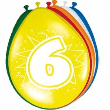 24x stuks ballonnen 6 jaar