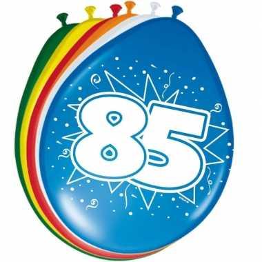 24x stuks ballonnen 85 jaar