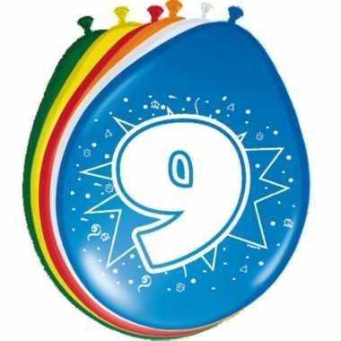 24x stuks ballonnen 9 jaar