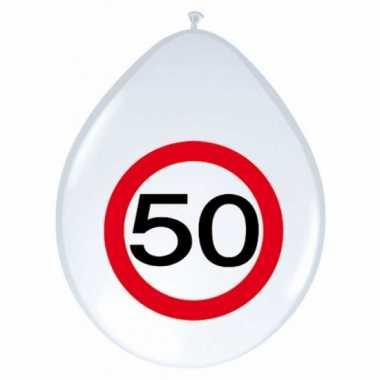 24x stuks feest ballonnen 50 jaar