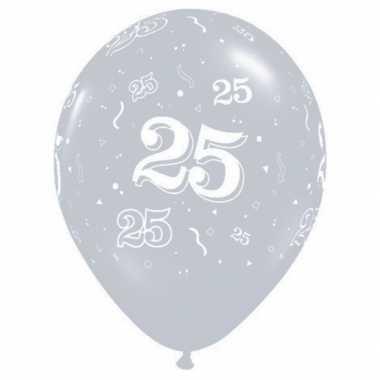 25 jaar decoratie ballonnen qualatex