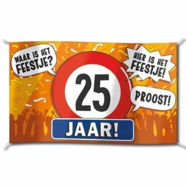 25e verjaardag straatvlag 100x150 cm
