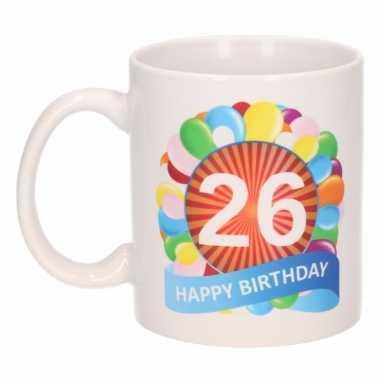 26e verjaardag cadeau beker / mok 300 ml