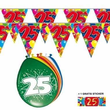 2x 25 jaar vlaggenlijn + ballonnen