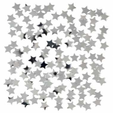 3 x stuks zilveren sterren confetti zakjes 15 gram