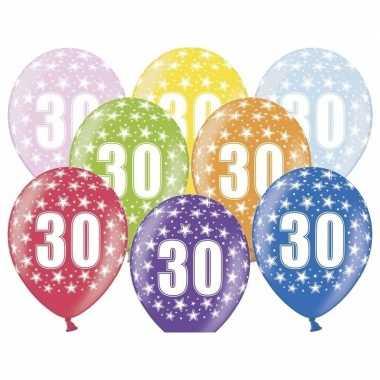 30e verjaardag ballonnen met sterretjes