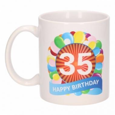 35e verjaardag cadeau beker / mok 300 ml