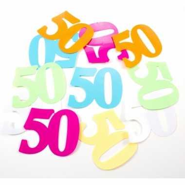 36x mega confetti 50 jaar gekleurd