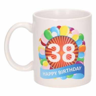 38e verjaardag cadeau beker / mok 300 ml
