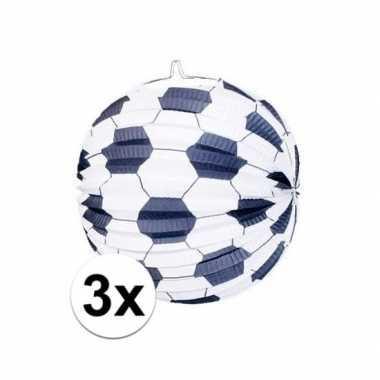 3x sint maarten lampionnen van een voetbal