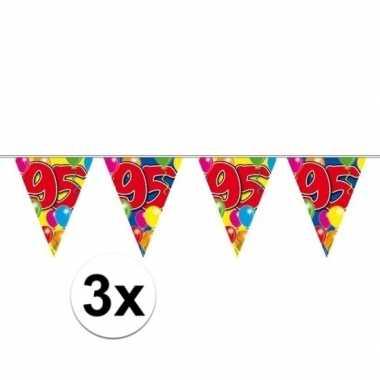 3x vlaglijn 95 jaar plastic 10 meter