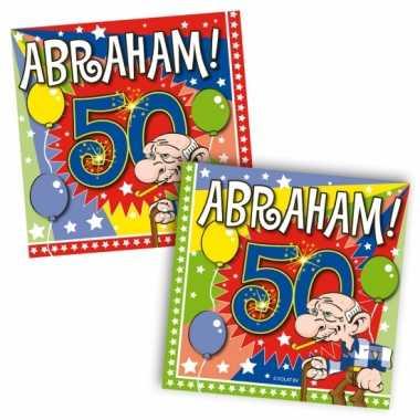 40x 50 jaar abraham leeftijd feest servetten 25 x 25 cm