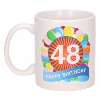 48e verjaardag cadeau beker / mok 300 ml