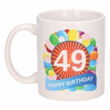 49e verjaardag cadeau beker / mok 300 ml