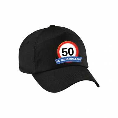 50 and still looking good stopbord pet / cap zwart voor volwassenen