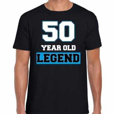 50 legend verjaardag cadeau t-shirt zwart voor heren