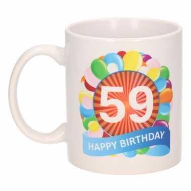 59e verjaardag cadeau beker / mok 300 ml