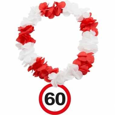 60 jaar verkeersbord bloemenslinger