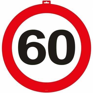 60 jaar verkeersbord deurbord 47 cm